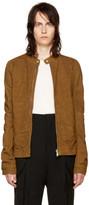 Rick Owens Tan Leather Rick's Jacket