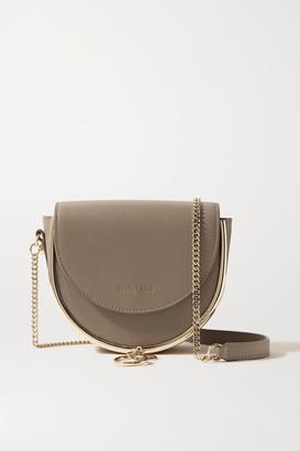 See by Chloe Mara Embellished Textured-leather Shoulder Bag - Taupe