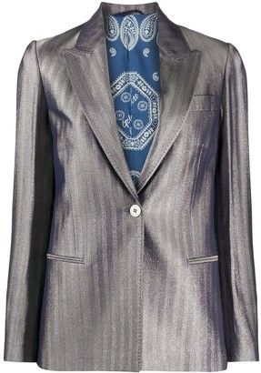 Golden Goose Golden metallic herringbone blazer