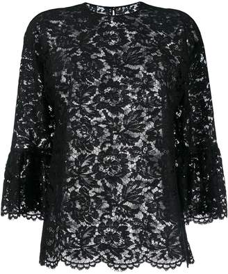 Valentino lace three-quarter sleeves blouse