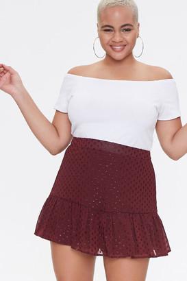 Forever 21 Plus Size Polka Dot Mini Skirt
