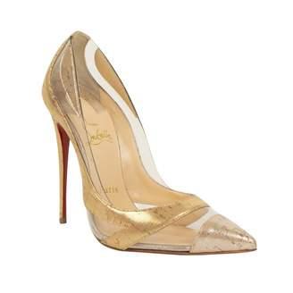 Christian Louboutin Gold Plastic Heels
