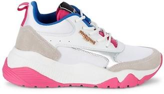 Roberto Cavalli Sport Leather & Suede Sneakers