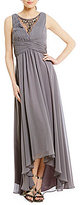 Vince Camuto Illusion Neck High Low Gown