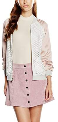 New Look Women's Reversible Lace Bomber Long Sleeve Jacket