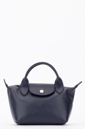 Longchamp Le Pliage Cuir Mini Top Handle Bag