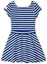 Ralph Lauren Girls' Ponte Stripe Top and Skirt Set - Little Kid