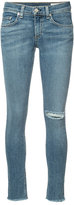 Rag & Bone Jean - ripped skinny jeans - women - Cotton/Polyurethane - 24