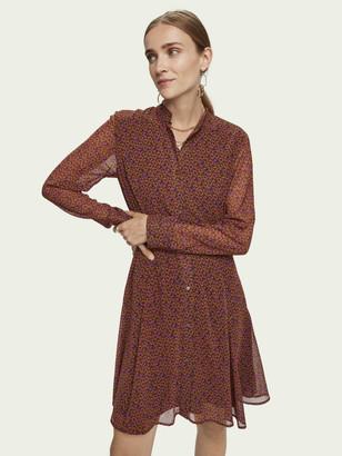 Scotch & Soda Drapey peplum style long sleeve dress   Women