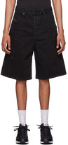 Diesel Black Denim D-Bron Shorts