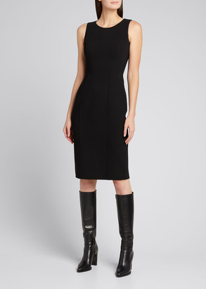Michael Kors Collection Double-Face Shaped Scoop-Neck Sheath Dress