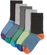 Marks and Spencer 5 Pairs of FreshfeetTM Cotton Rich Striped Footbed Socks (5-14 Years)
