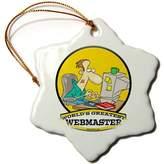 3dRose LLC orn_103638_1 Dooni Designs Worlds Greatest Cartoons - Funny Worlds Greatest Webmaster Occupation Job Cartoon - Ornaments