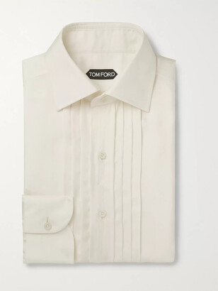 Tom Ford Ivory Bib-Front Twill Shirt