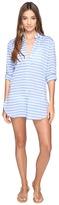 Tommy Bahama Breton Stripe Boyfriend Shirt Cover-Up Women's Swimwear