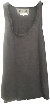 Maje Anthracite Linen Top for Women