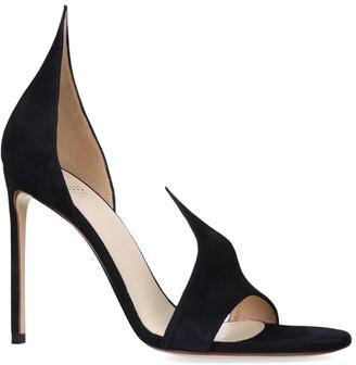 Francesco Russo Suede Vamp Sandals 105