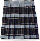 French Toast Little Girls Pleated Skirt, Green Plaid