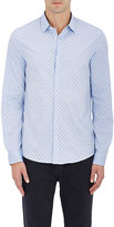 Michael Kors MEN'S SWISS DOT COTTON BUTTON-FRONT SHIRT
