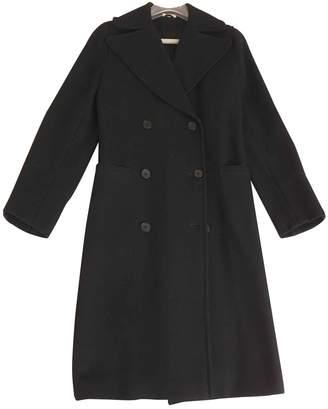 Piombo Black Wool Coat for Women