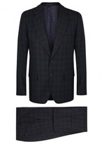 Paul Smith Mayfair Navy Checked Wool Blend Travel Suit
