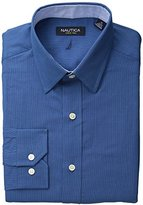 Nautica Men's Classic-Fit Houndstooth Dress Shirt