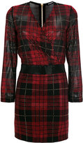 Balmain embellished check mini dress