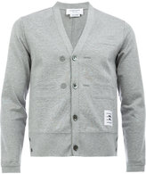 Thom Browne v-neck cardigan - men - Cotton/Nylon/Polyurethane/Cupro - 0