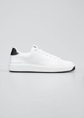 Balmain Men's B Court Leather Low-Top Sneakers