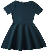 Milly Minis Scalloped Fit-and-Flare Knit Dress, Size 8-14