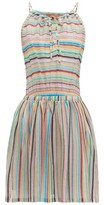 Missoni Mare - Striped Halterneck Mini Dress - Womens - Multi