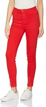 New Look Women's 5138846 Skinny Jeans, (Bright Red)