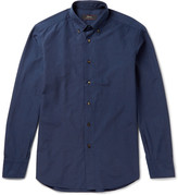 Brioni - Slim-fit Button-down Collar Checked Cotton Shirt