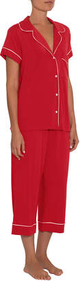 Eberjey Gisele Short-Sleeve Crop Pajama Set