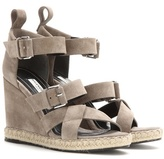 Balenciaga Rope Track Suede Wedge Sandals