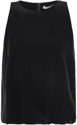 Chalayan Cropped Layered Silk Crepe De Chine Top