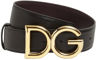 Dolce & Gabbana 35mm Reversible Leather Belt