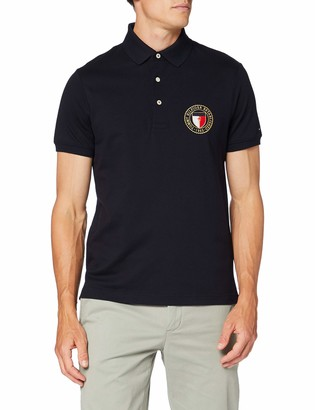 Tommy Hilfiger Men's Crest Chest Slim Polo Shirt
