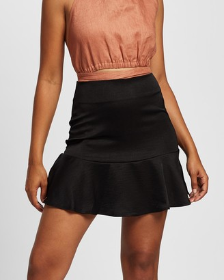 All About Eve Women's Black Mini skirts - Natalie Flippy Skirt - Size One Size, 8 at The Iconic
