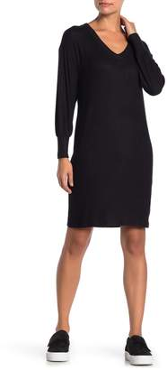 Bobeau V-Neck Long Sleeve Sweater Dress (Petite)