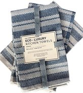 Eco Luxury Kitchen Towels, 100% Cotton Upcycled, Set of 3, 20 x 24 ""