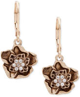 lonna & lilly Gold-Tone Crystal Flower Drop Earrings