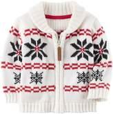 Carter's Baby Boy Fairisle Zip-Up Sweater