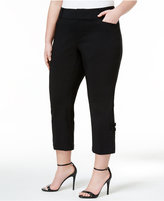 INC International Concepts Plus Size Cropped Bow-Detail Pants, Only at Macy's