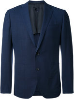 Caruso tonal plaid blazer - men - Linen/Flax/Cupro/Wool - 48