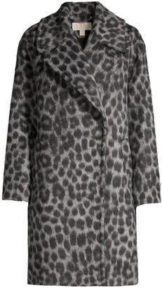 MICHAEL Michael Kors Leopard Jacquard Cocoon Coat
