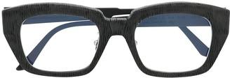 Kuboraum Textured Square Frame Glasses