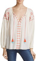 En Creme Banjara Embroidered Tassel Top