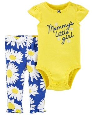 Carter's Baby Girls Mommy's Little Girl Bodysuit and Pant Set, 2 Pieces