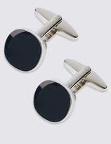 M&S Collection Square Navy Centre Cufflinks